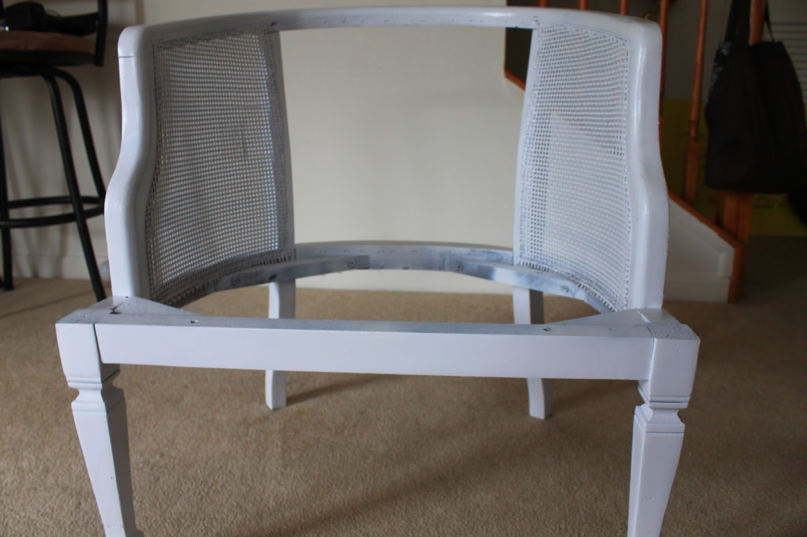 how to replace cane back chair with fabric ikea high recall oronovelo diy reupholster rags riches appeal