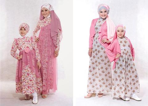 model baju muslim ibu dan anak perempuan