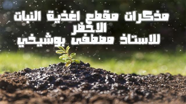 مذكرات مقطع اغذية النبات الاخضر للاستاذ مصطفى بوشيخي