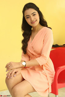 Rukshar Mir in a Peachy Deep Neck Short Dress 029.JPG