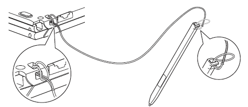 Securing a stylus tether