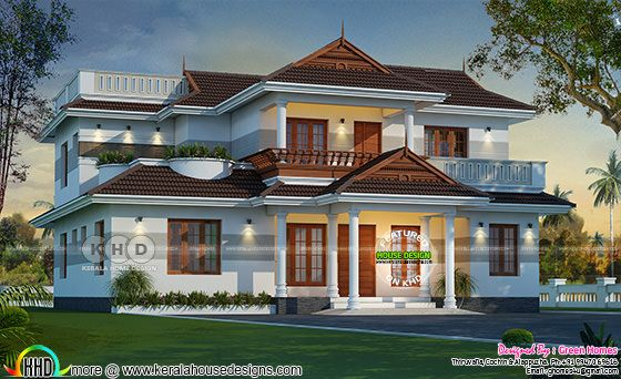 2550 sq-ft Kerala traditional villa architecture