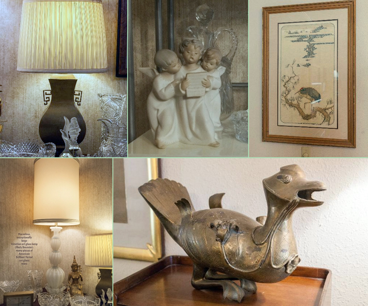 Asian art, bronze sculptures, art glass