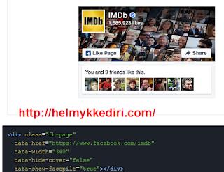 Cara memasang Fanspage didalam Blog1