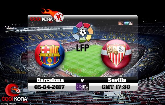 مشاهدة مباراة برشلونة وإشبيلية اليوم 5-4-2017 في الدوري الأسباني