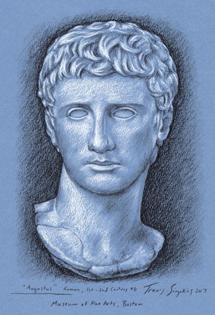 The Emperor Augustus. Ancient Roman. Museum of Fine Arts, Boston. by Travis Simpkins