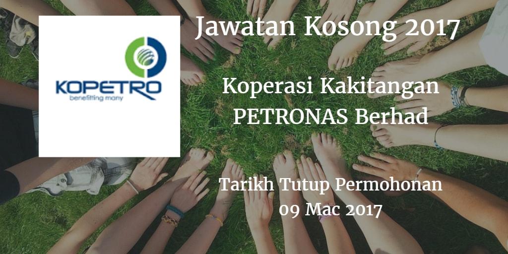 Jawatan Kosong Koperasi Kakitangan PETRONAS Berhad 09 Mac 2017