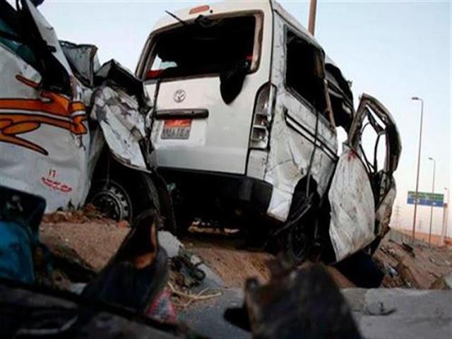 إصابة 12 عامل فى حادث بالطريق الإقليمي بمحافظة الشرقية