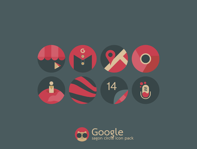 Sagon Circle Icon Pack full apk