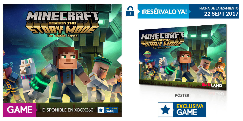 GAME nos regala un espectacular póster con Minecraft Story Mode Temporada 2