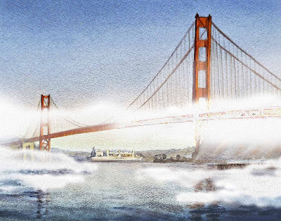Painting Of Golden Gate Bridge San Francisco Bay Area Art
