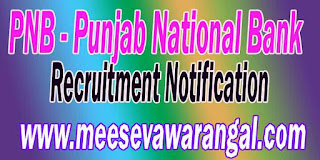 PNB (Punjab National Bank) Recruitment Notification