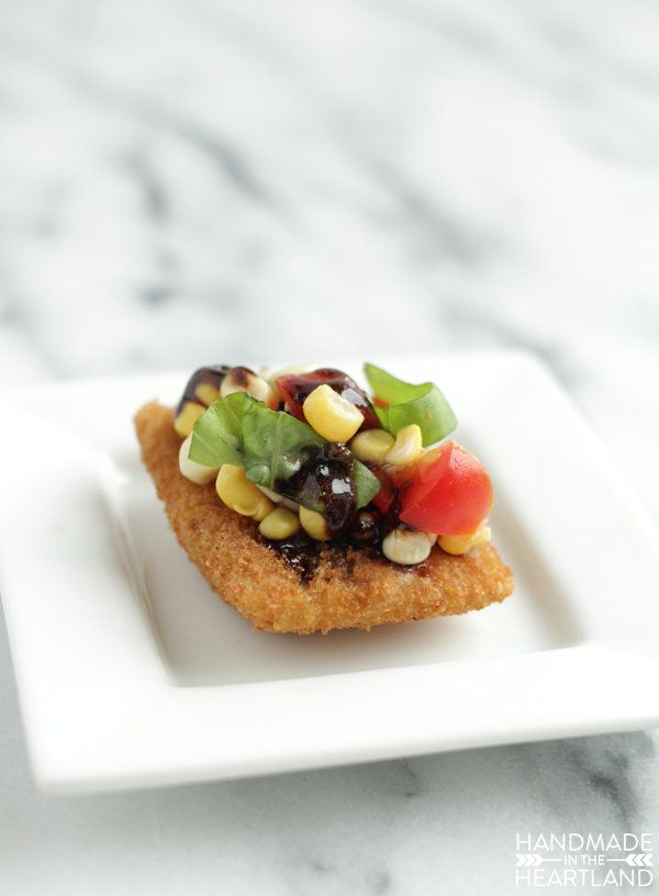 Toasted Ravioli with Fresh Corn Salsa Recipe