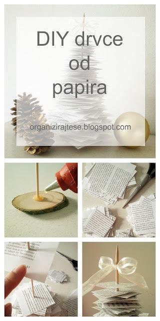 DIY božićno drvce od papira iz knjige