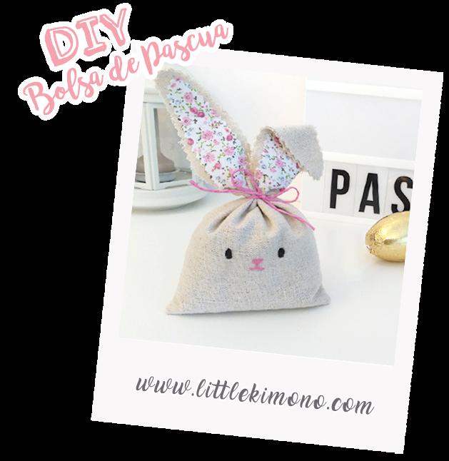 65faf3cdb Bolsa conejo de Pascua - Little Kimono Handmade ❣