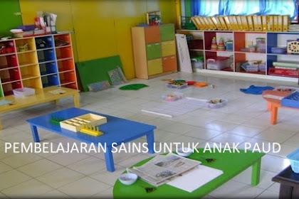 Contoh Pembelajaran Sains Untuk Anak PAUD