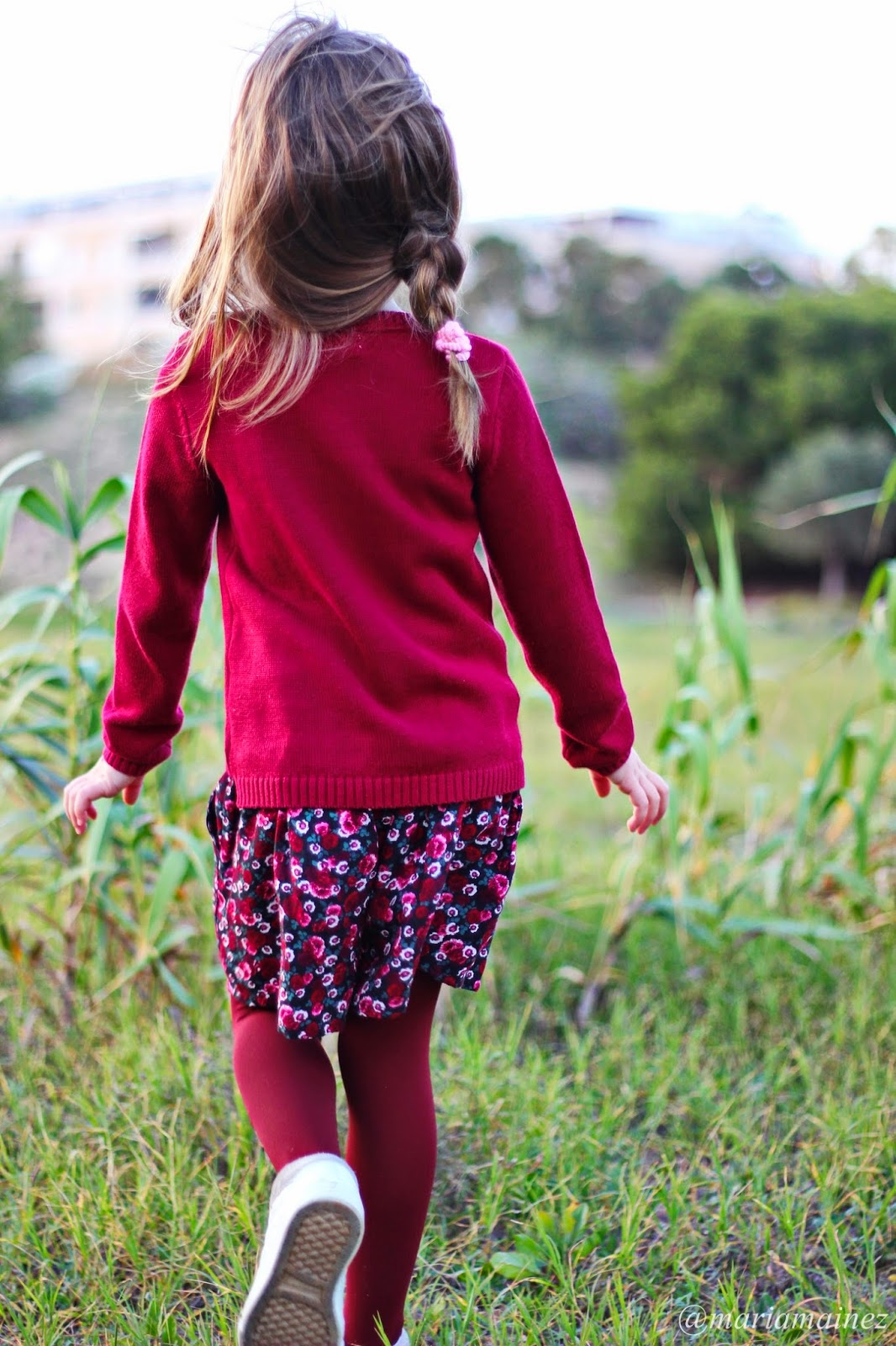 fashionkids - little blogger - H&M - Burgundy - Streetstylekids