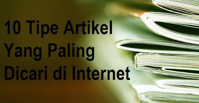 10 Tipe Artikel Yang Paling Dicari di Internet