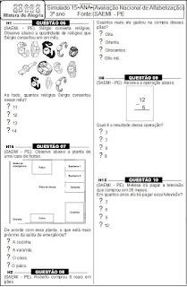 simulado de matemática-3º ano