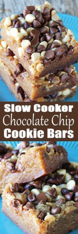 SLOW COOKER CHOCOLATE CHIP COOKIE BARS