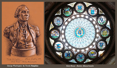 George Washington. by Travis Simpkins. Massachusetts State House. Beacon Hill. Boston, MA