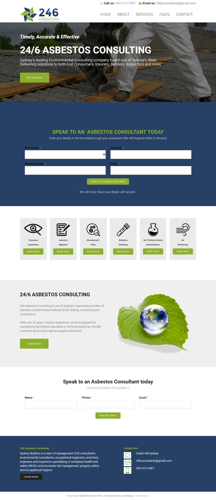 246 Consulting Weebly Web Design