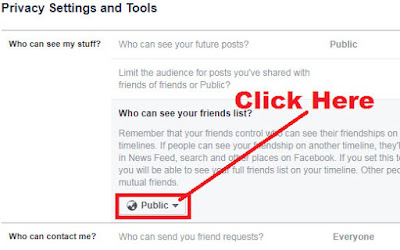 how to hide friend list in facebook from everyone