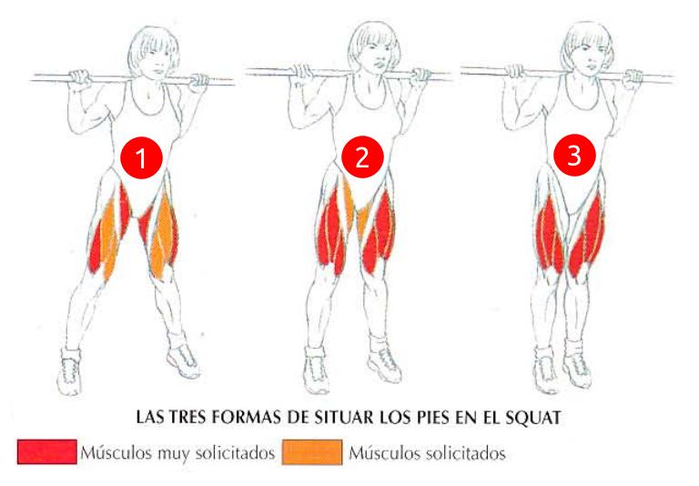 Las tres formas de situar los pies en las sentadillas | Rane Forti
