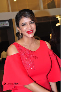 Actress Manchu Lakshmi Pictures in Red Long Dress 0056