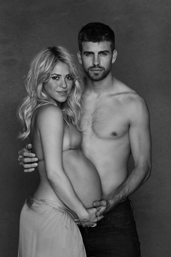 Shakira and Gerard Pique unveil pregnancy photos for charity