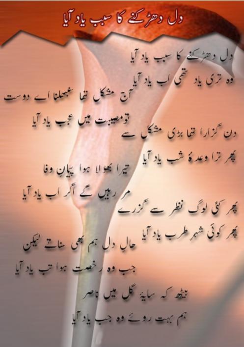Sad Wallpapers With Quotes In Urdu Nasir Kazmi Dil Dharakne Ka Sabab Yad Aya Urdu Poetry