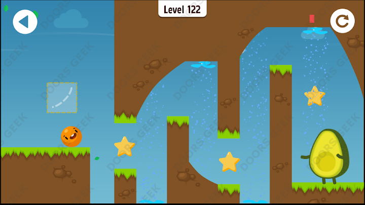 Where's My Avocado? Level 122 Solution, Cheats, Walkthrough, 3 Stars for Android, iPhone, iPad and iPod
