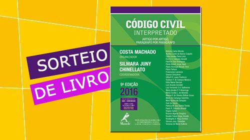 Sorteio livro Código Civil Interpretado - Profº Costa Machado