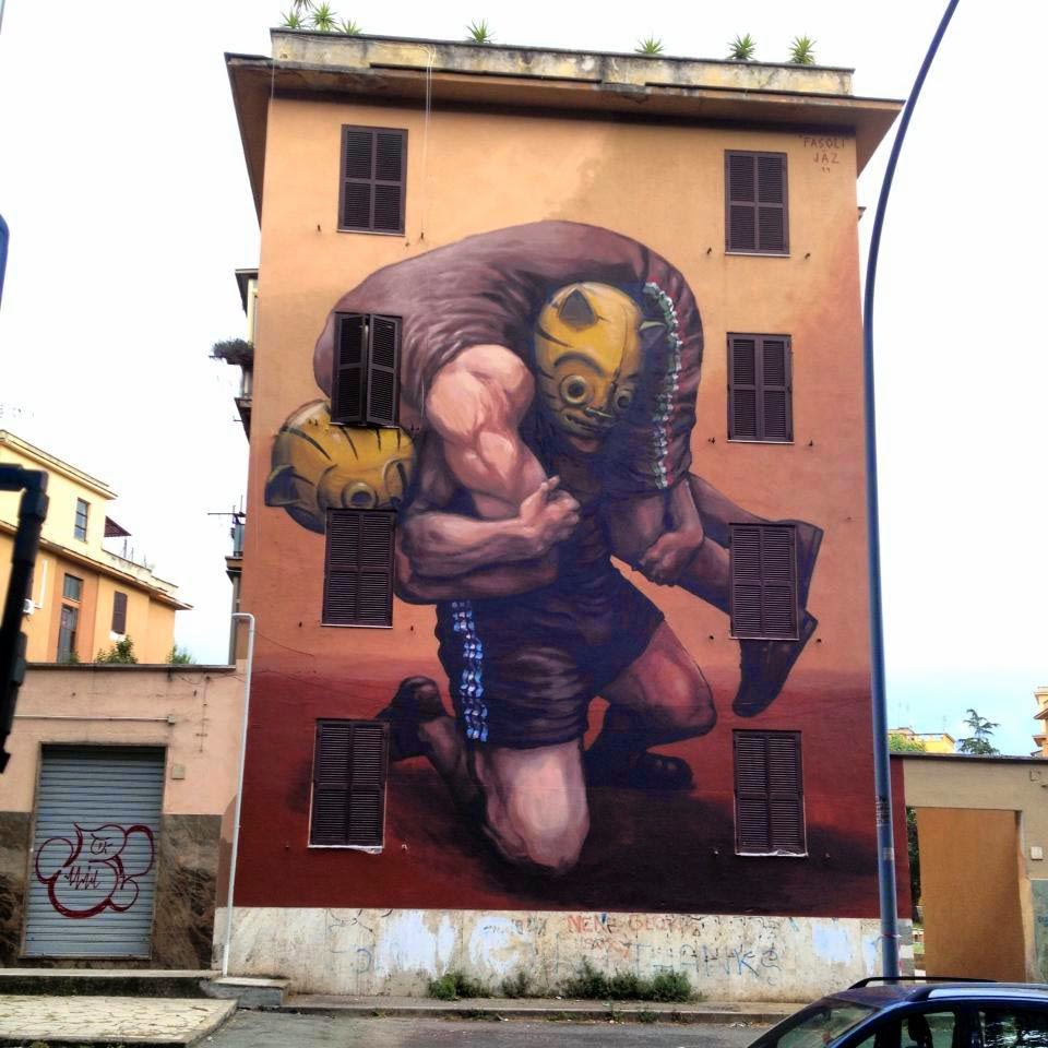 Franco Fasoli aka JAZ is now in Europe where he's starting his summer tour with Rome, Italy for the Avanguardie Urbane Street Art Festival