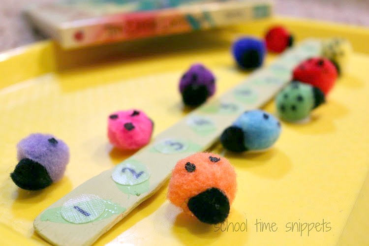 10 little ladybugs preschool counting activity