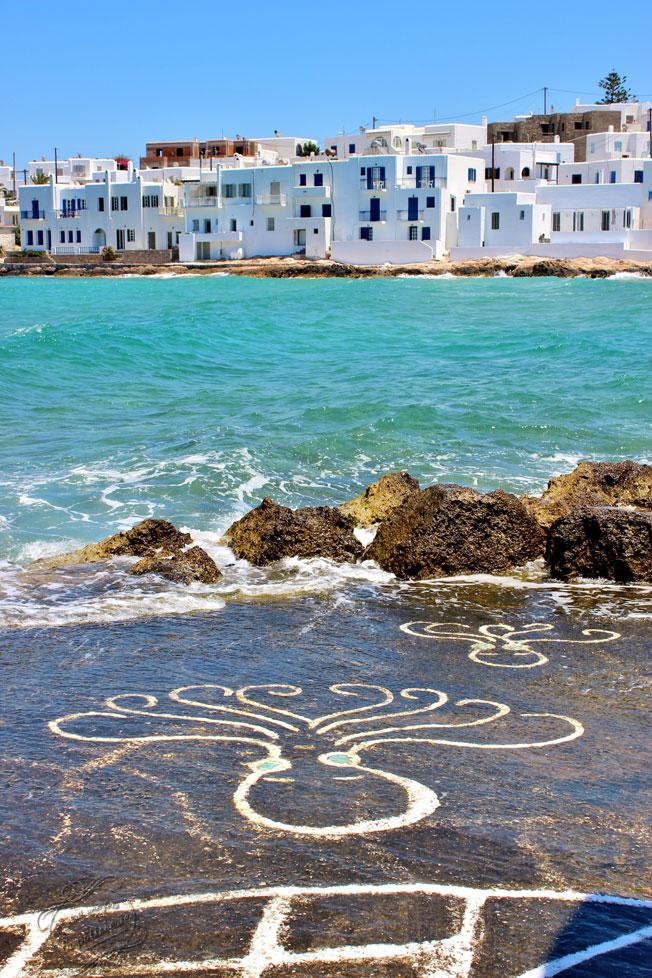 Les poulpes peints de Naoussa, Paros, Cyclades, Grèce