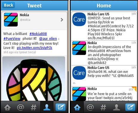 Twitter app for Nokia Series 40 devices