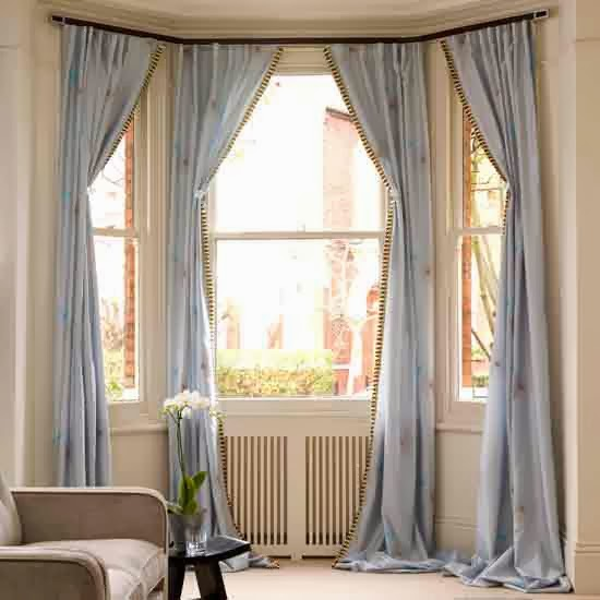 Bay Window Decoration: Foundation Dezin & Decor...: Bay Window Curtain Treatments