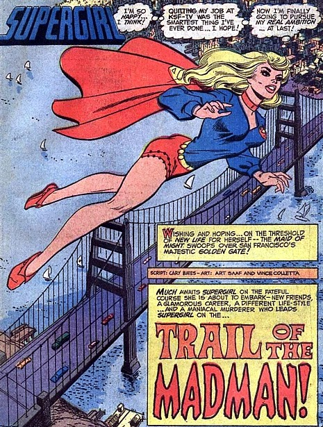 Supergirl #1, splash page, Art Saaf