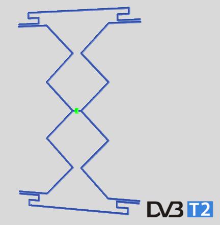 Antenă pentru televiziunea digitală terestră DVB-T2