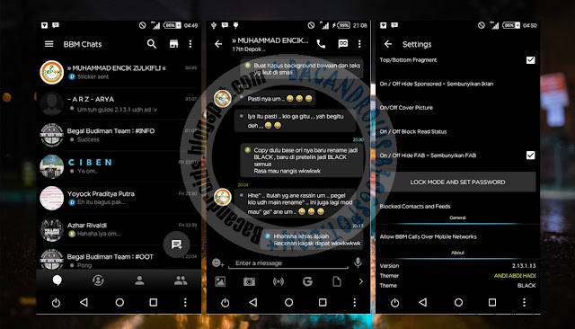 download BBM Mod Thema Full Black Versi 2.13.1.13 Terbaru Apk
