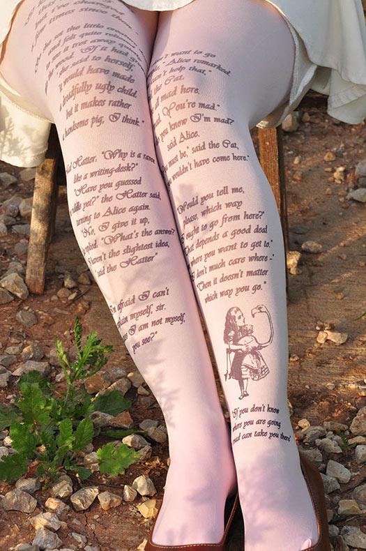 Pantys literarias inspirado por las novelas clásicas de autor famosos