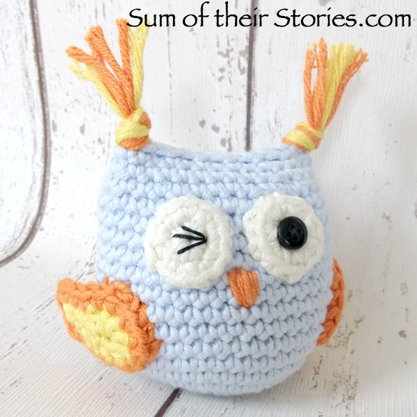Amigurumi crocheted owl
