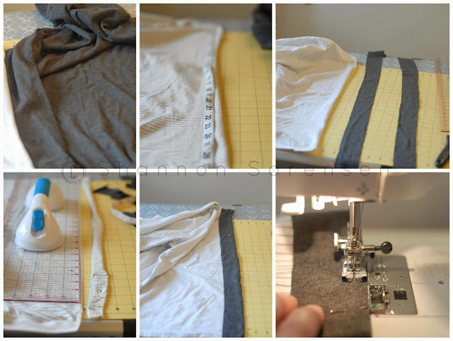 DIY sewing project shirt to cardigan