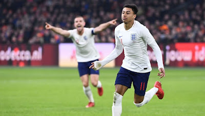 Gol Debut Lingard Antar Inggris Pecundangi Belanda