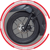 New Wheel Design With Tubeless Tire Vario 125 ESP CBS 2018 Anisa Naga Mas Motor Klaten Dealer Asli Resmi Astra Honda Motor Klaten Boyolali Solo Jogja Wonogiri Sragen Karanganyar Magelang Jawa Tengah.