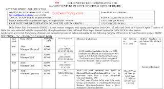 Delhi metro exam date
