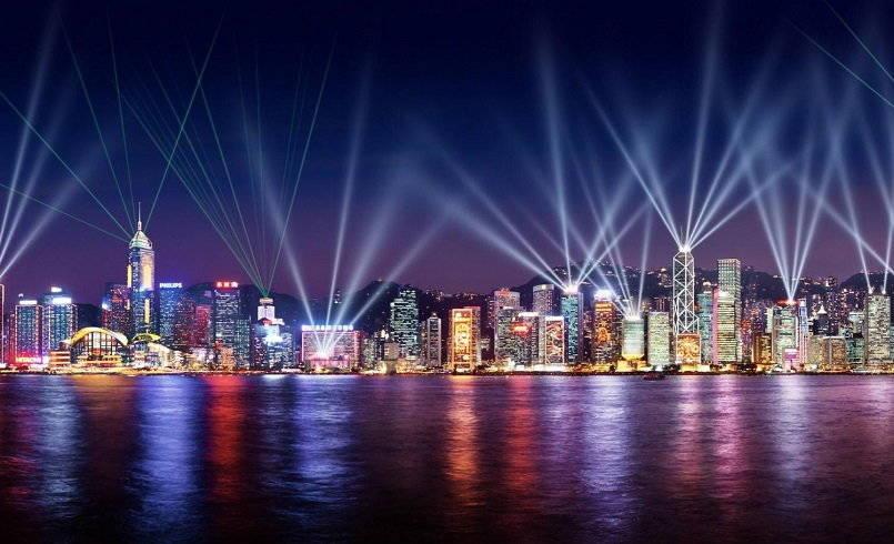 Hong Kong's Symphony of Lights Show