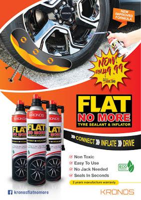 KRONOS FLATNOMORE Tyre Sealant & Inflator, Kronos, kronos flatnomore, tyre, tayar, cara tukar tayar pancit, cara baiki tayar bocor, tayar pancit tak perlu tukar tayar, tak perlu tukar tayar, Tyre Sealant, cara mudah tampung tayar, Tyre Sealant & Inflator, tayar pancit tak perlu tukar, kelebihan Tyre Sealant & Inflator, cara guna Tyre Sealant & Inflator, harga Tyre Sealant & Inflator