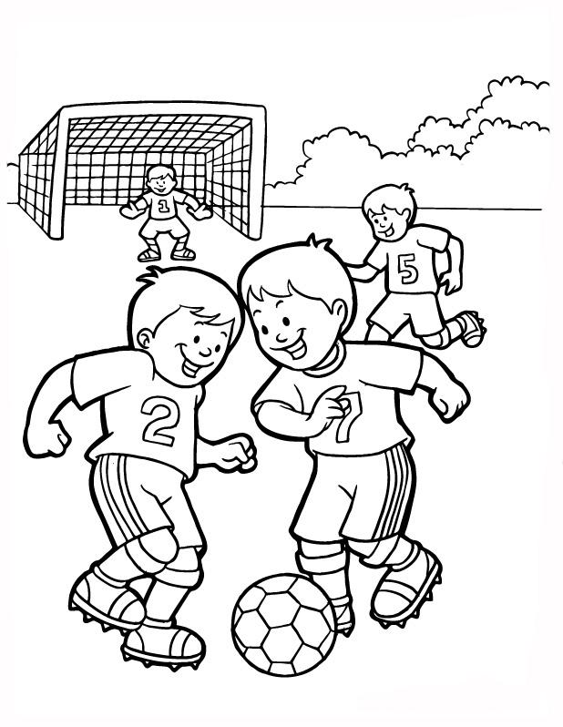 universul copiilor: Imagini de colorat fotbal